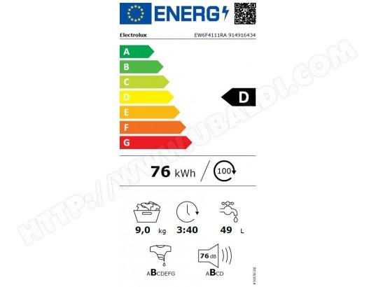 Lave-linge Frontal Electrolux EW6F4111RA