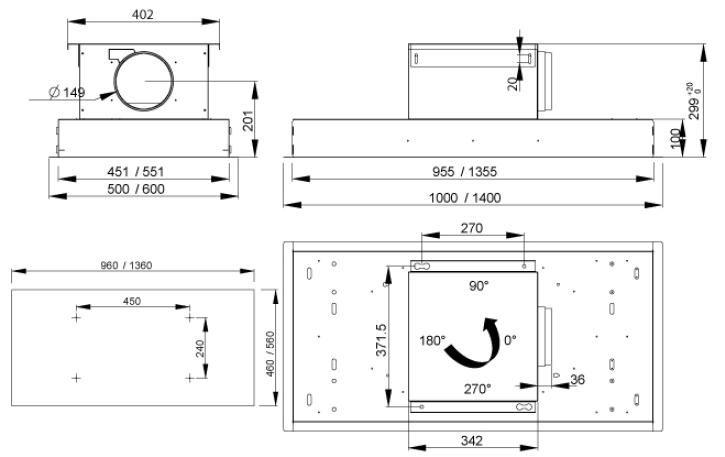 Hotte de plafond Inspiration FX 1000 Roblin 6209255 Electromenager ...