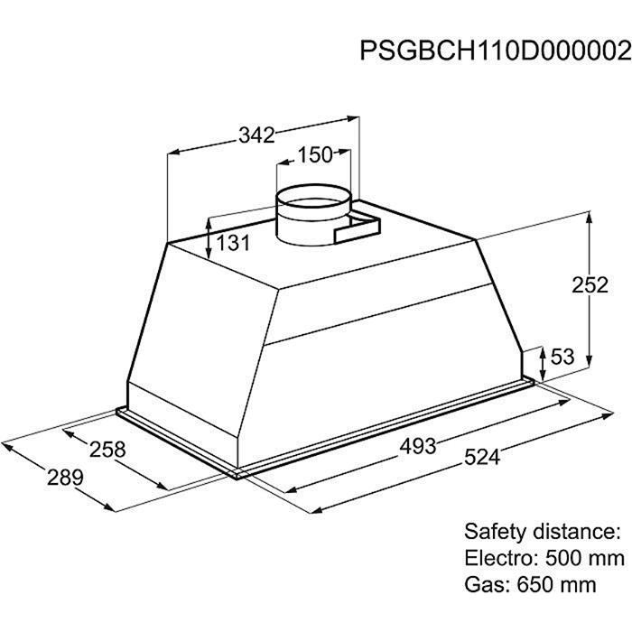 groupe filtrant electrolux efg50300x electromenager grossiste. Black Bedroom Furniture Sets. Home Design Ideas