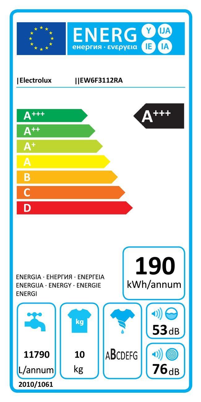 Lave-linge Frontal Electrolux EW6F3112RA