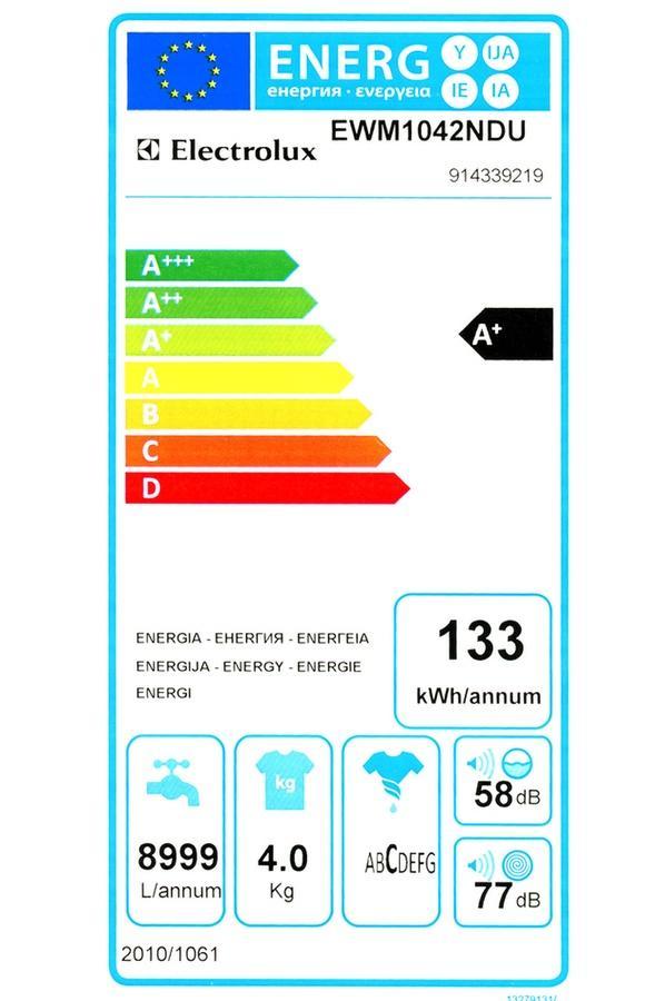 Lave-linge Frontal Electrolux EWM1042NDU