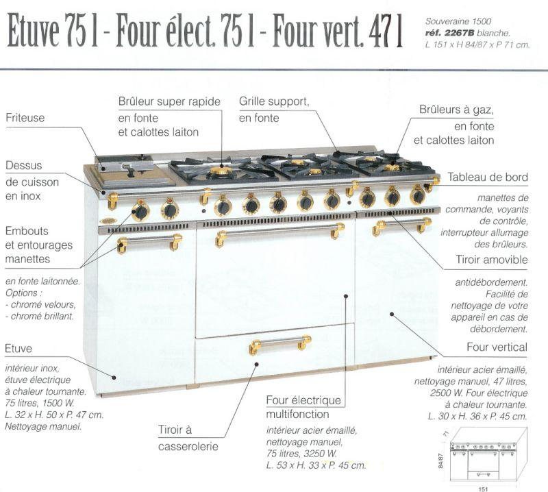Photo Piano De Cuisson Godin Mixte La Souveraine 1500 Blanc