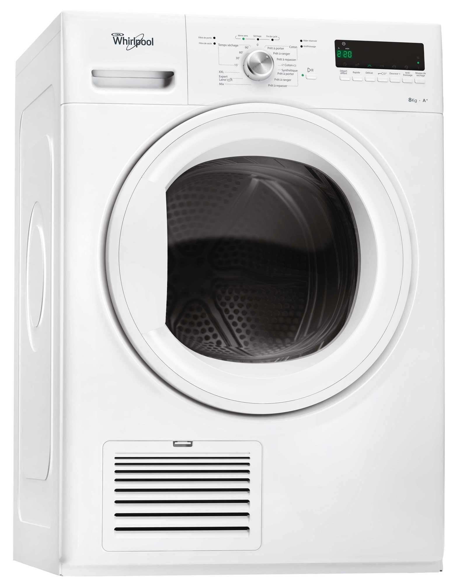 Photo Sèche-Linge Condensation Whirlpool HDLX80312