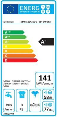 Lave-linge Frontal Electrolux EW6S1043NDU