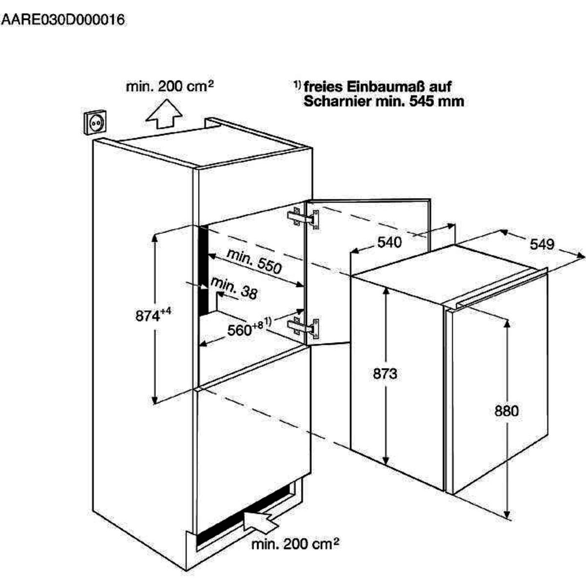 Réfrigérateur 1 porte Intégrable Faure FBA14421SA