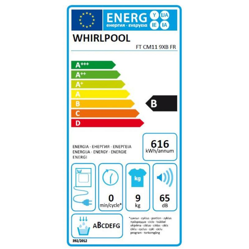 Sèche-Linge Condensation Whirlpool FTCM119XBFR
