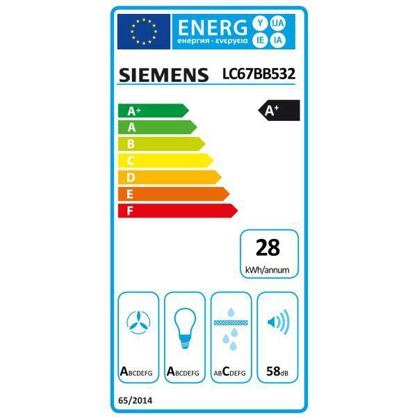 Hotte Décorative Siemens LC67BB532