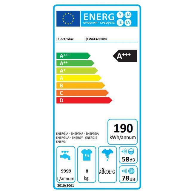 Lave-linge Frontal Electrolux EW6F4805BR