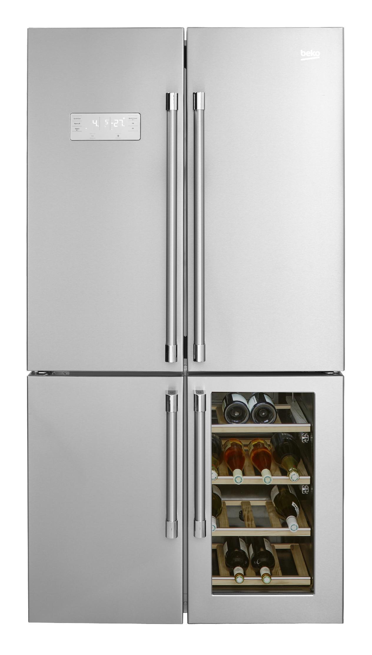 Photo Réfrigérateur + Cave à vin Beko GN1416220CX