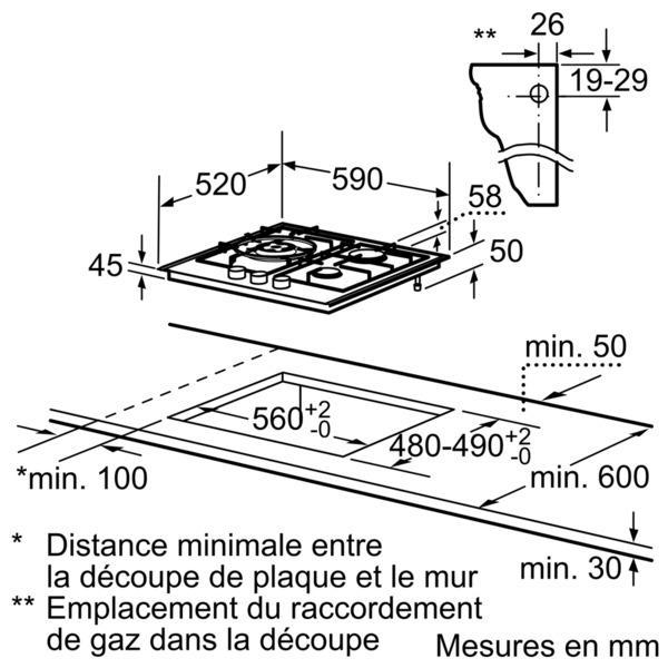 plaque gaz siemens ep616cb21e electromenager grossiste. Black Bedroom Furniture Sets. Home Design Ideas