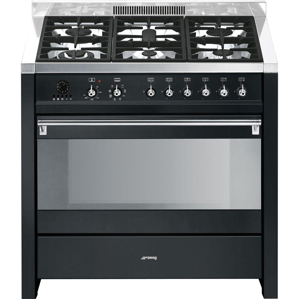 Piano de cuisson mixte smeg cs19a 7 electromenager grossiste for Piano de cuisson pyrolyse