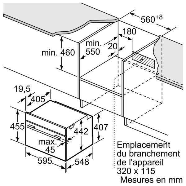four vapeur encastrable siemens cs656gbs1 electromenager. Black Bedroom Furniture Sets. Home Design Ideas
