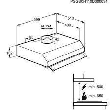 Hotte Casquette Electrolux EFT60228OW