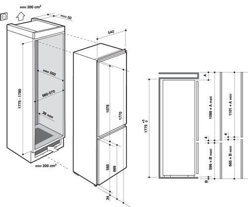 Refrigerateur combine integrable id es for Horaire piscine lannion