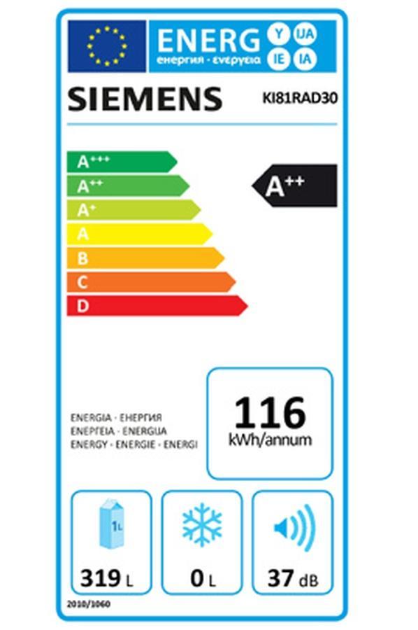 Réfrigérateur 1 porte Intégrable Siemens KI81RAD30
