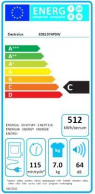 Sèche-linge Evacuation Electrolux EDE1074PDW