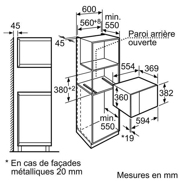 micro ondes encastrable neff h12we60s0 electromenager grossiste. Black Bedroom Furniture Sets. Home Design Ideas
