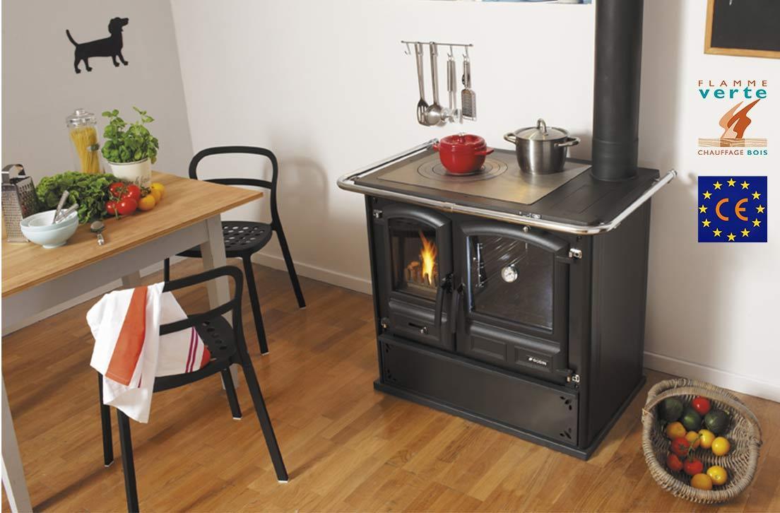 Photo Cuisinière Bois Godin Divomes 240171 Noir