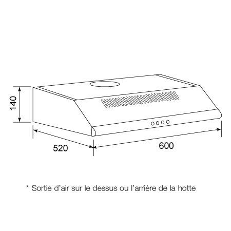 Hotte Casquette Airlux AHC640IX
