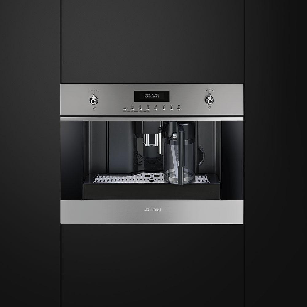 machine caf encastrable smeg cms6451x electromenager. Black Bedroom Furniture Sets. Home Design Ideas