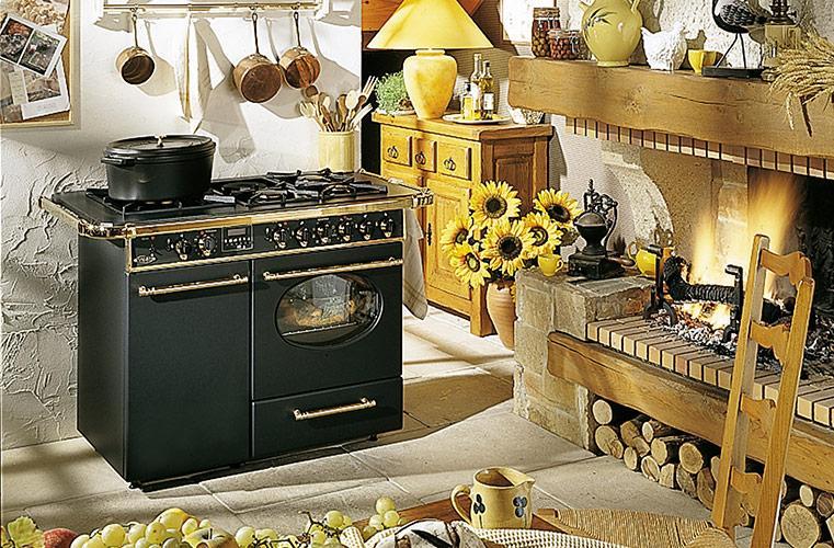 Photo Cuisinière Mixte Godin La Chatelaine PRO 6498 Noir