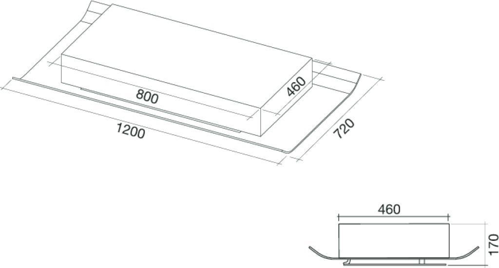 hotte falmec de plafond cielo3610 electromenager grossiste